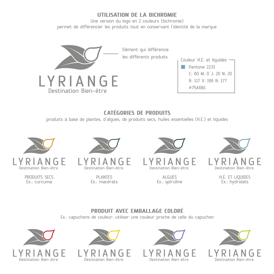Création logo lyriange: logo packaging
